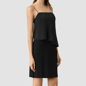 All Saints Dress Silk 'Mira' Black • US 10